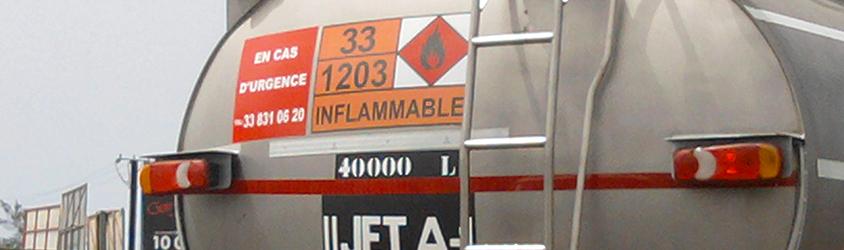 Les transports de matières dangereuse à Voiron et environs